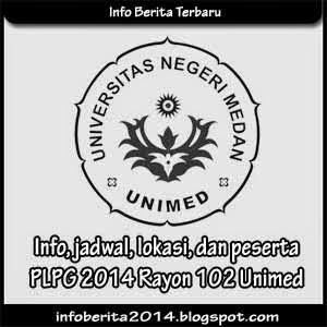 Info, jadwal, lokasi, peserta PLPG 2014 Rayon 102 Unimed