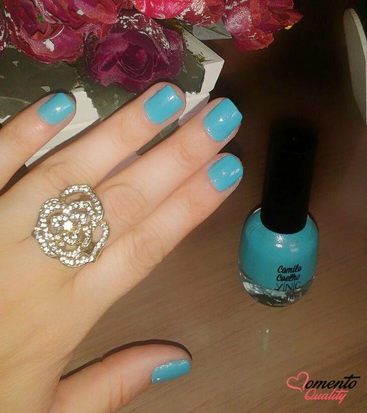 Esmalte da Semana - Blue Jade YNC Camila Coelho