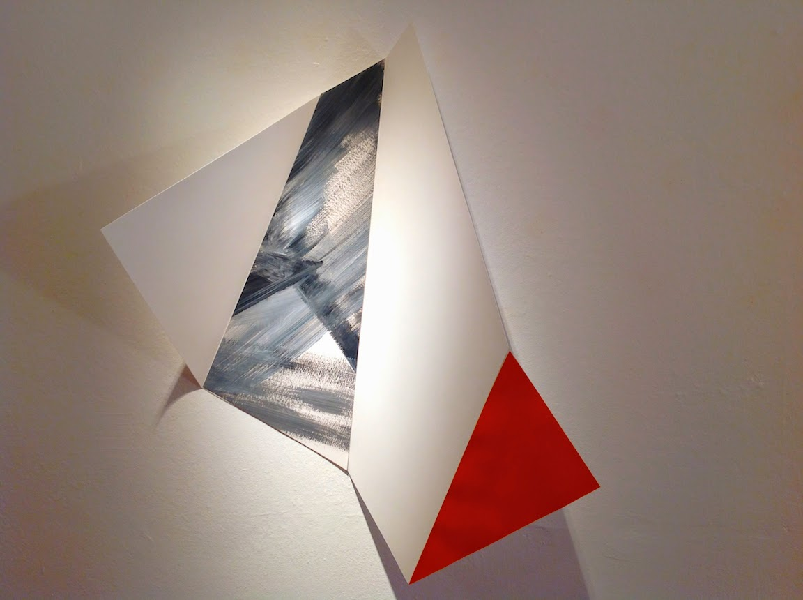 paper sculpture, geometric abstraction, abstract expressionism