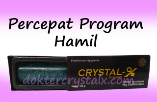 crystal x percepat program hamil