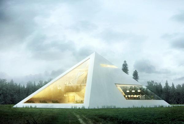 Futurix pyramid house una casa da faraone del 21 secolo for Case futuristiche