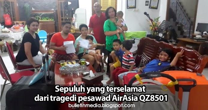 Sepuluh yang terselamat dari tragedi pesawad AirAsia QZ8501...