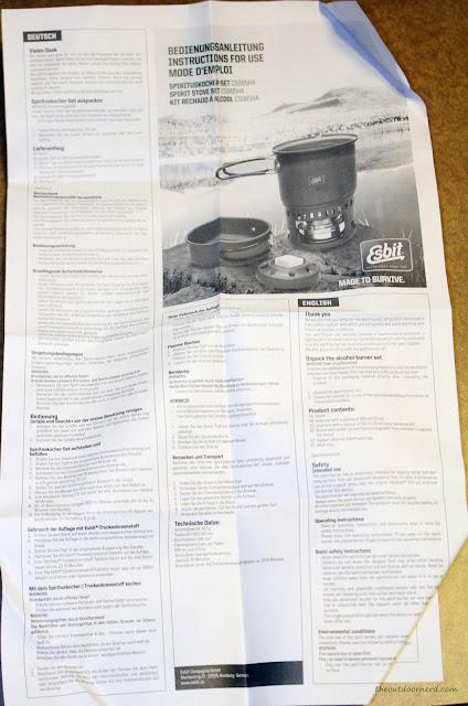 Esbit 5-Piece Trekking Cook Set - Paper Instructions