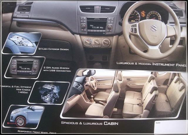 Ruangan Mobil Suzuki Ertiga