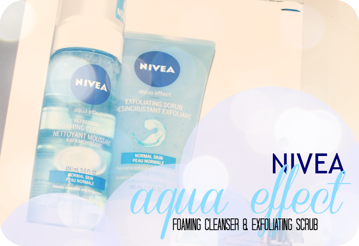 Nivea Aqua Effect Refreshing Foaming Cleanser and Exfoliating Scrub
