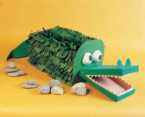 Alligator Pinata crape paper