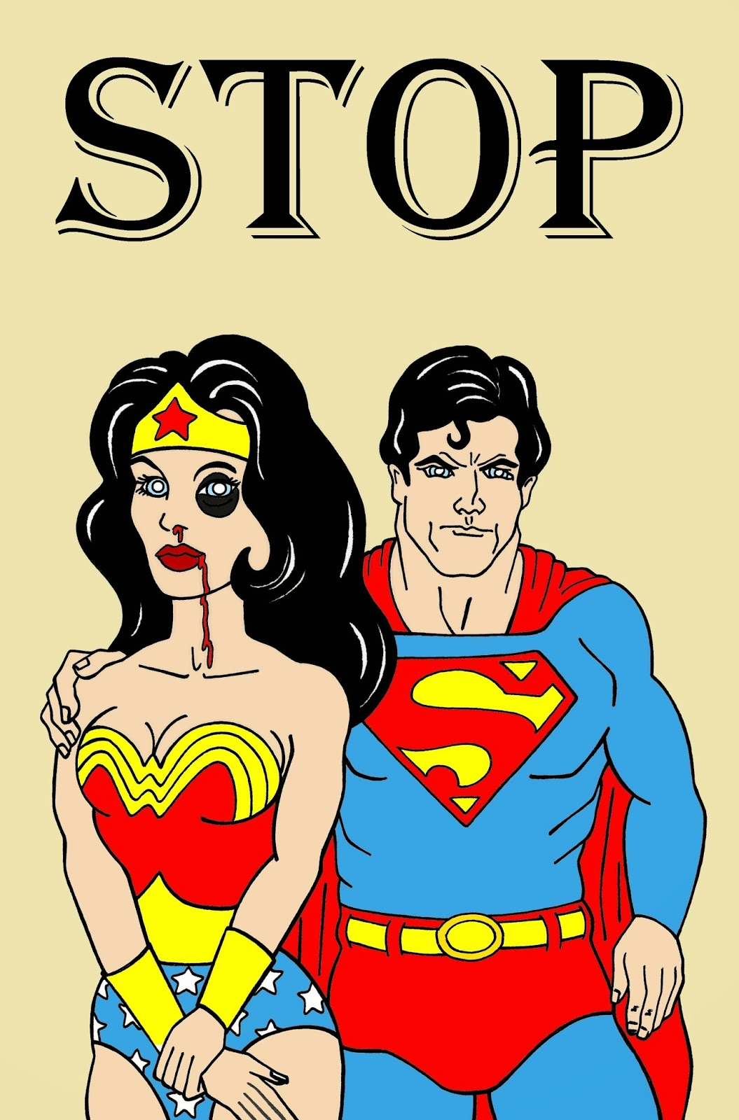 Humor chic humor chic art social superman and wonder - Superman wonder woman cartoon ...