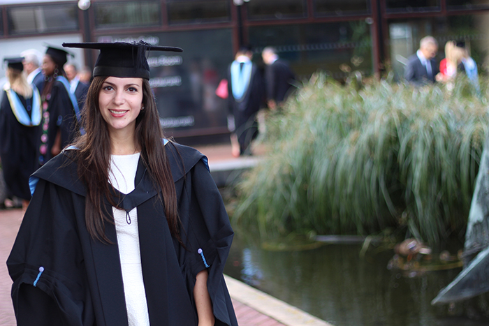 Southampton Graduation 2015 susu gown hat ceremony Nevena