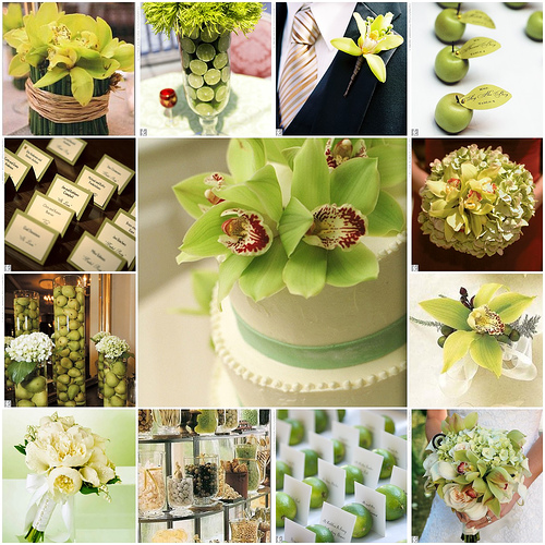 Chocolate Brown and Sage Green Wedding