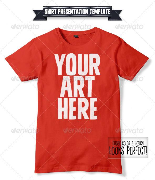 PSD Desain Kaos/Shirt Mockup