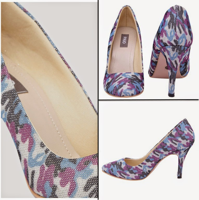 PAIO glitter printed court heels