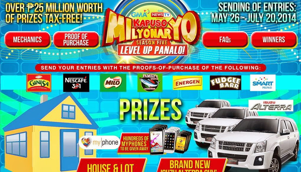GMA 7 Kapuso Milyonaryo 5 (Level UP Panalo), win, promotion, Philippines promotion contest