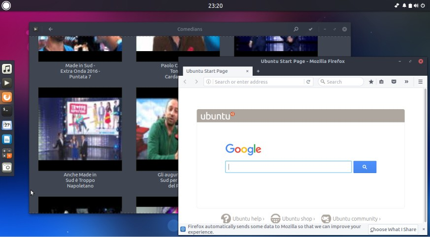An external monitor powered by an ubuntu phone