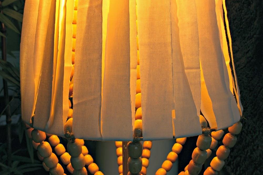 DIY wood bead lamp shade
