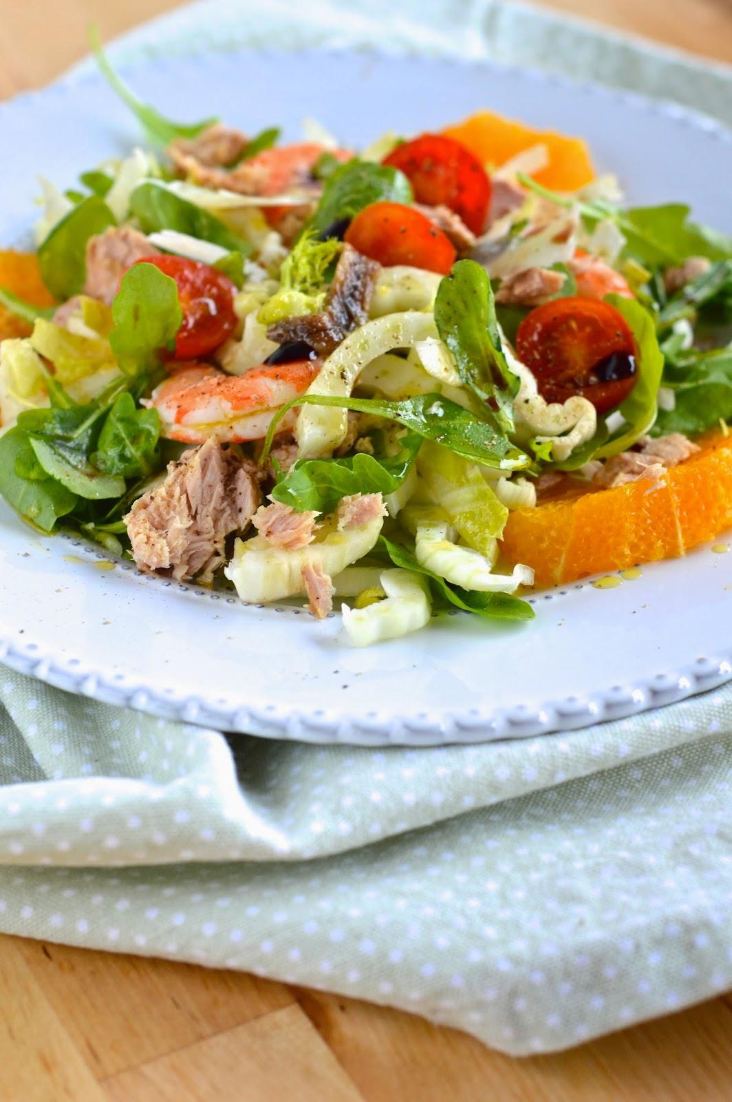 insalata mista alle arance
