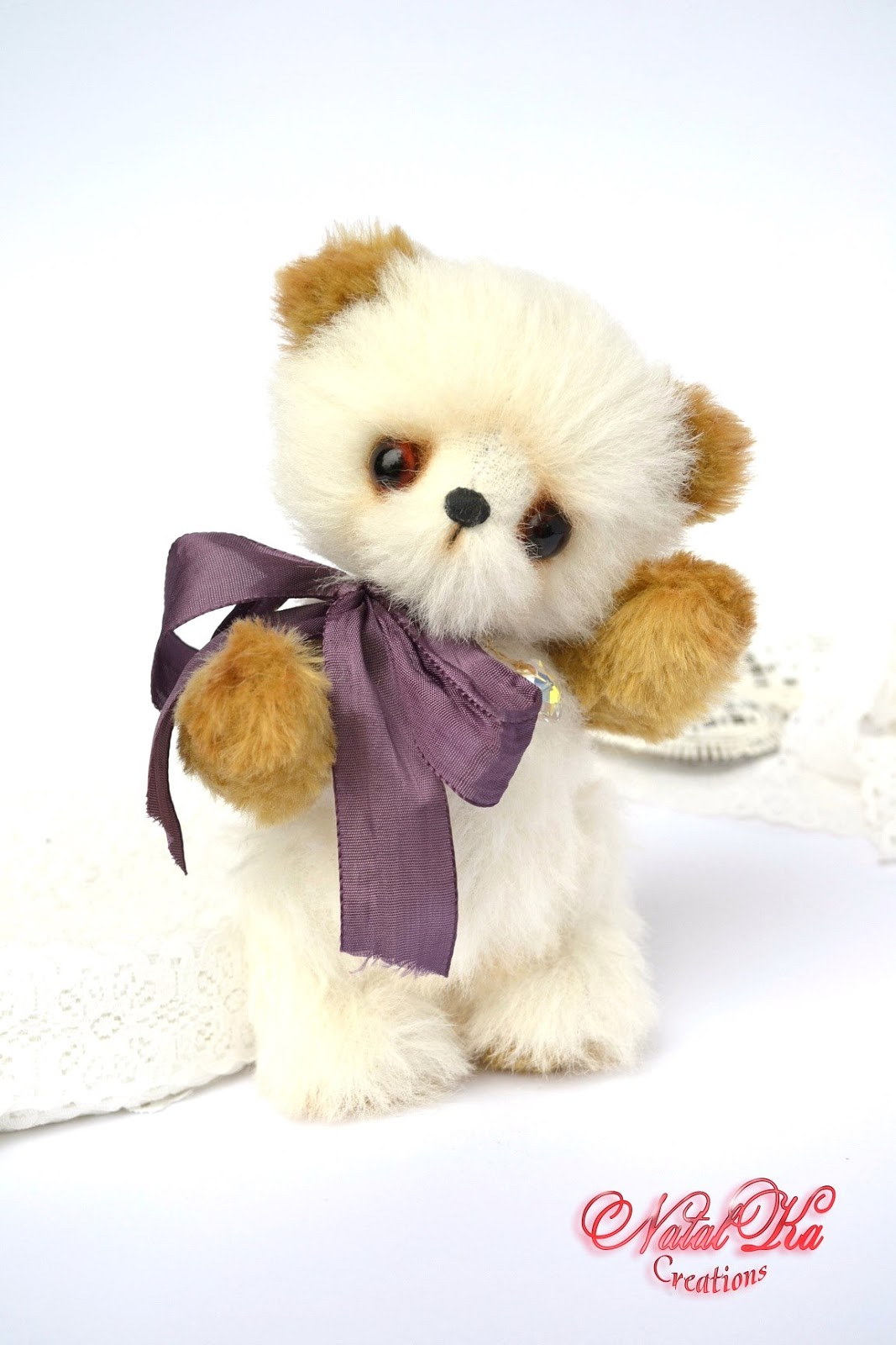 Artist teddy bear, artist bear, teddy bear, ooak, artist bear jointed, alpaka, handmade by NatalKa Creations. Künstlerbär, Künstlerteddy, Teddybär, Teddy, Unikat, handgemacht von NatalKa Creations
