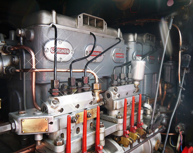 Shiny Gardner 6LW engine