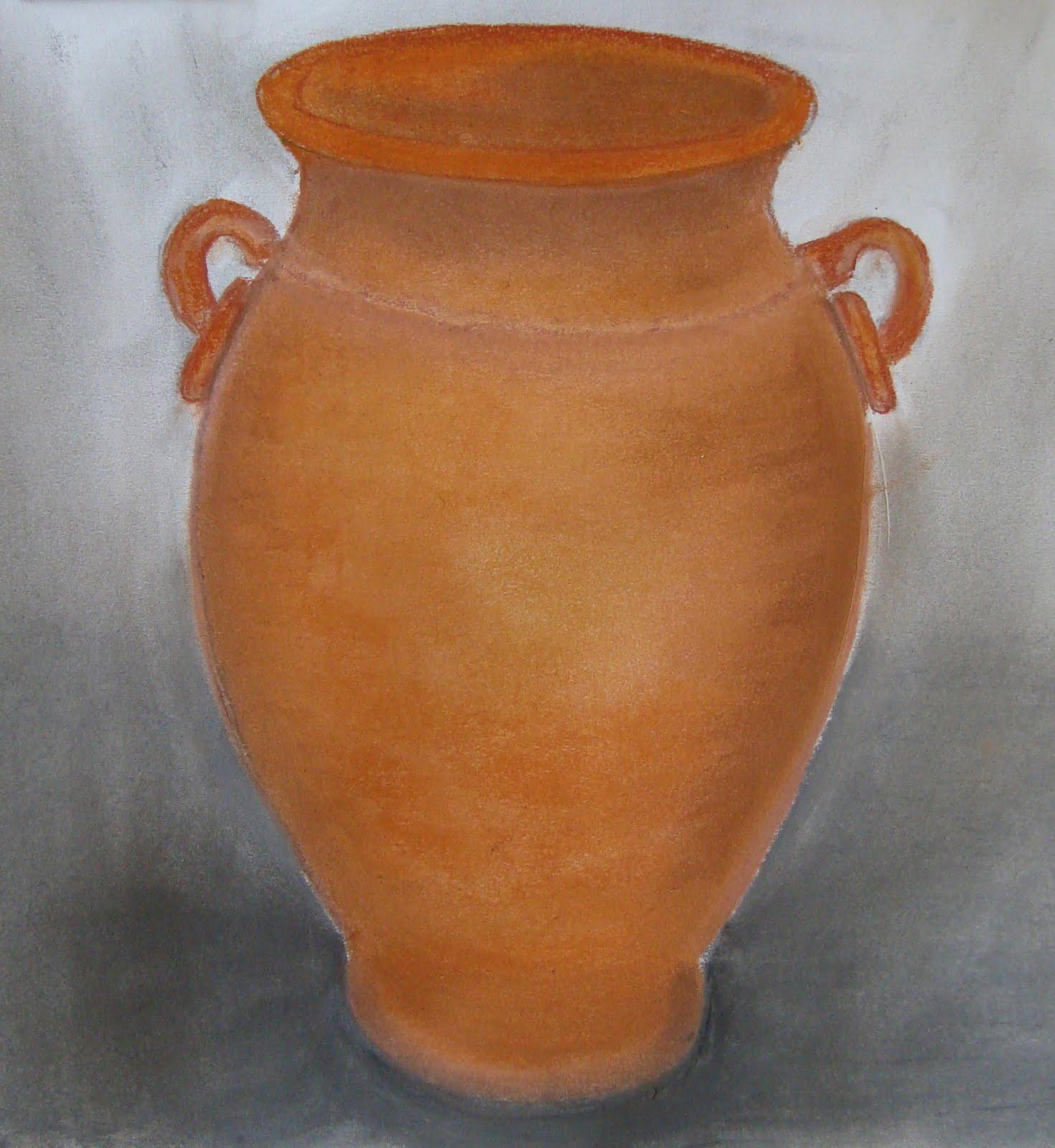 Dibujos y pinturas jarron de barro for Decoracion de jardines con jarrones de barro
