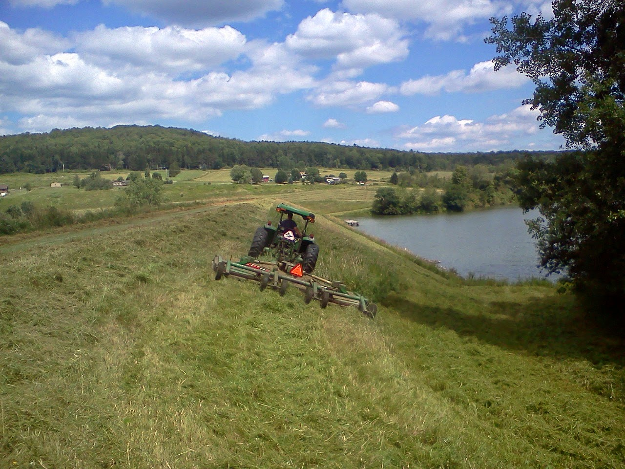 Annual Dam Mowing - Case Lake, Franklinville