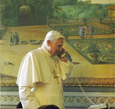 Pope telephoning plumber