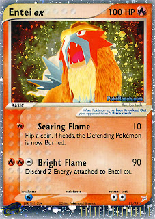 Entei ex Pokemon Card Team Magma vs. Team Aqua Set