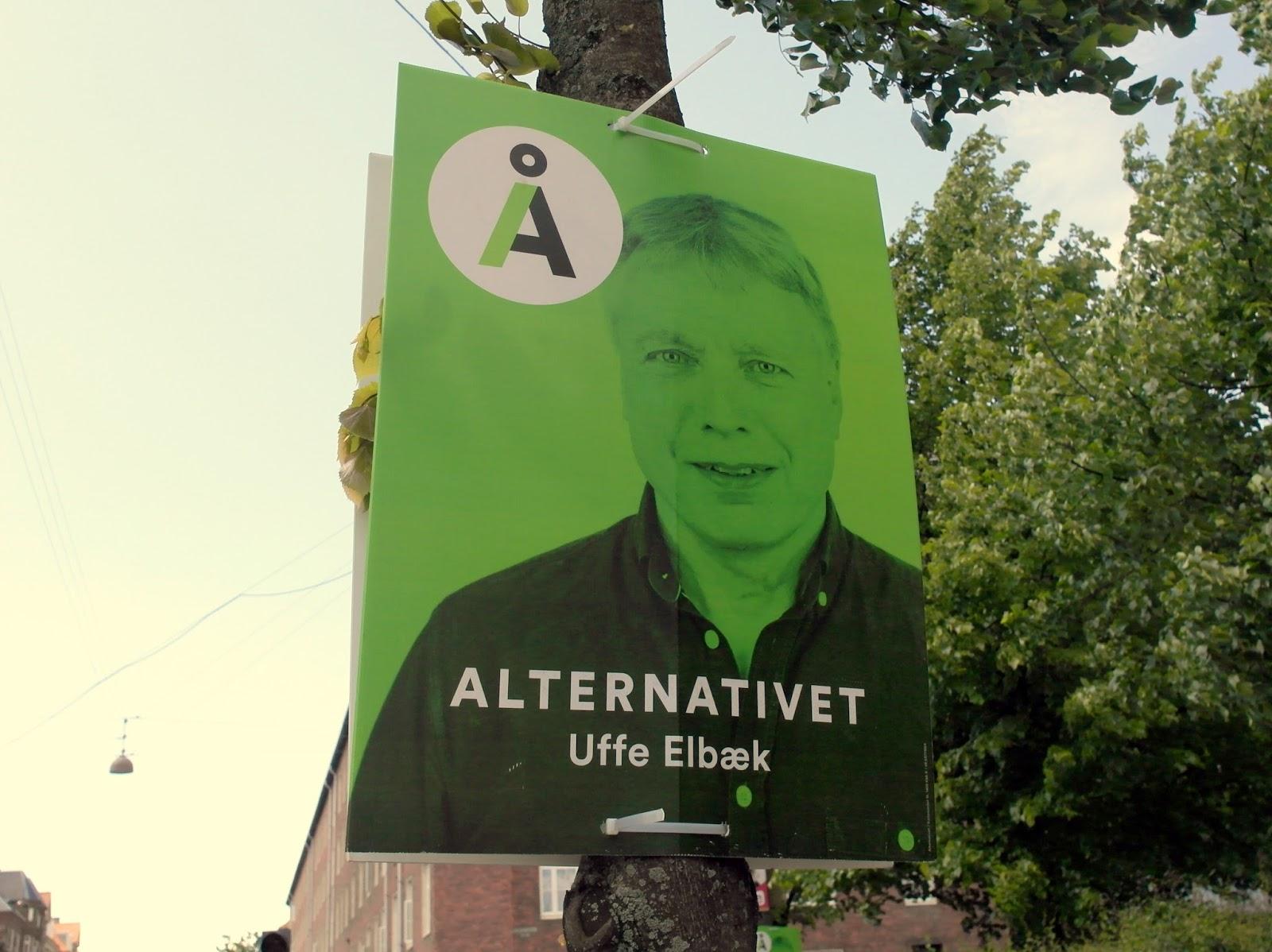 alternativet valgplakat