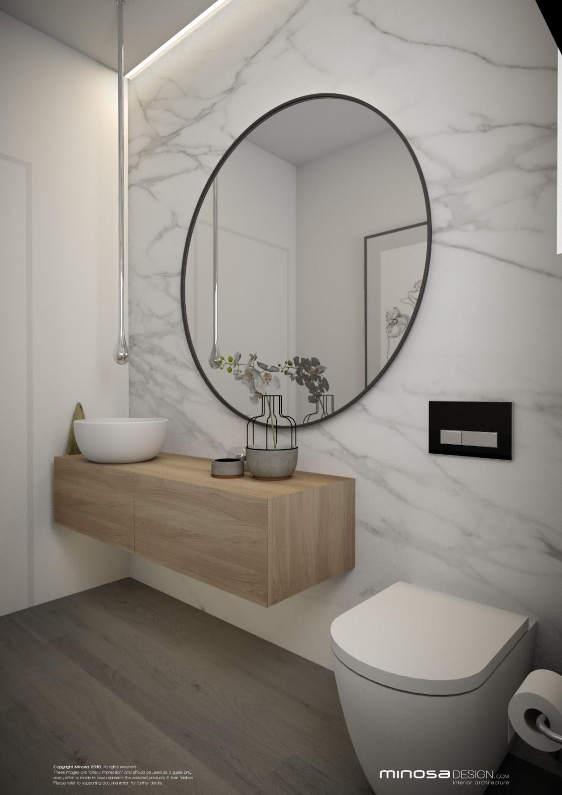 minosa powder room the wow bathroom. Black Bedroom Furniture Sets. Home Design Ideas