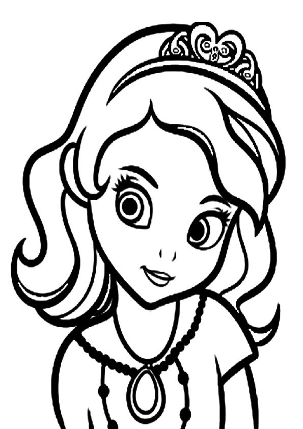 Colorear cara de princesa sofia | Dibujos para colorear