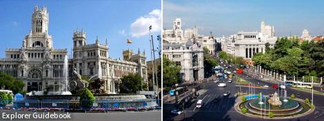 tempat wisata di madrid spanyol Plaza de Cibeles