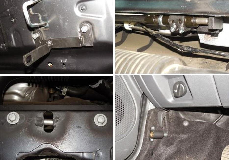 модельный замок капота CONSTRUCT Hood Lock на автомобиль RENAULT Dokker