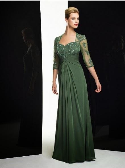 Verschiedene Stile für Wunderschöne bodenlange Brautmutterkleider ...