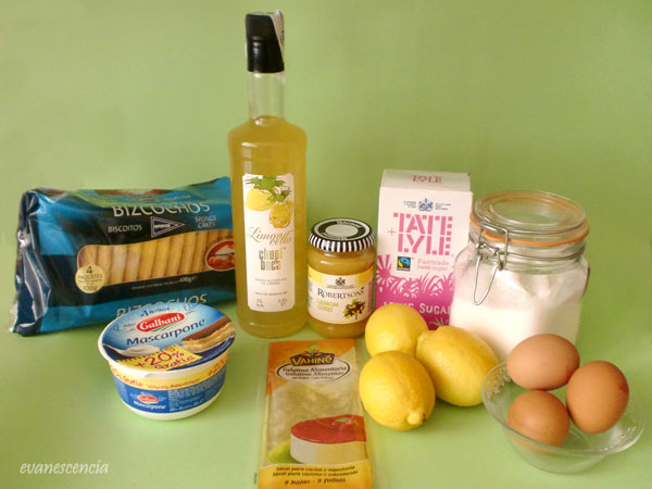 ingredientes tiramsu de limon