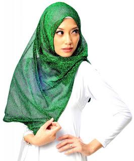 Warna Hijab Populer Tahun 2016 Trend Terbaru Hijau