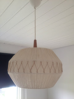 teak lampa taklampa 50-tal