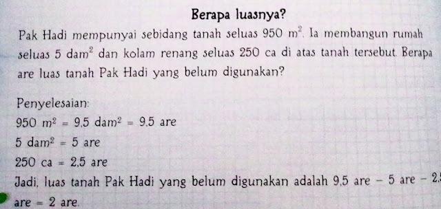Soal Cerita pada buku Memahami Matematika