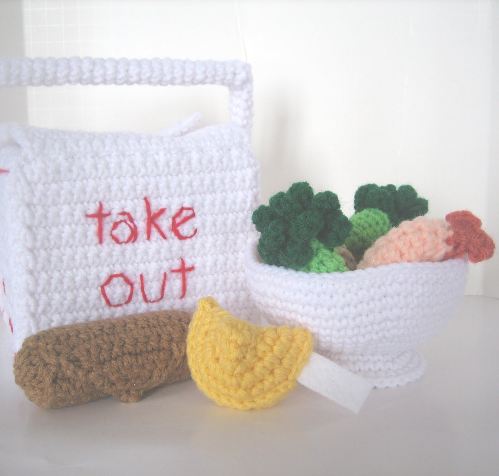 CROCHET N PLAY DESIGNS: New Crochet Pattern: Chinese Takeout
