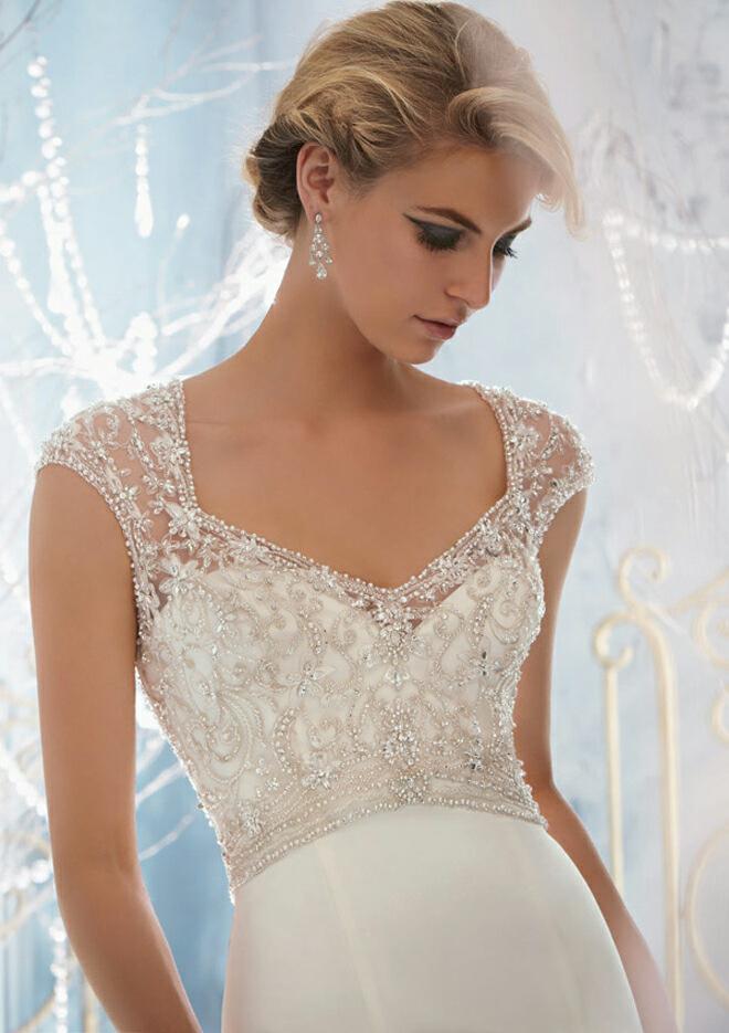 Lamb blonde wedding wednesday mori lee fall 21013 for Madeline gardner mori lee wedding dress