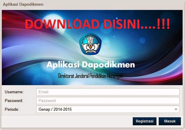 DOWNLOAD APLIKASI DAPODIKMEN