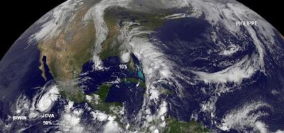 Philippe, Jova, Irwin, aktuell, Oktober, 2011, Hurrikansaison 2011, Taifunsaison, Satellitenbild Satellitenbilder, Atlantik, Pazifik,