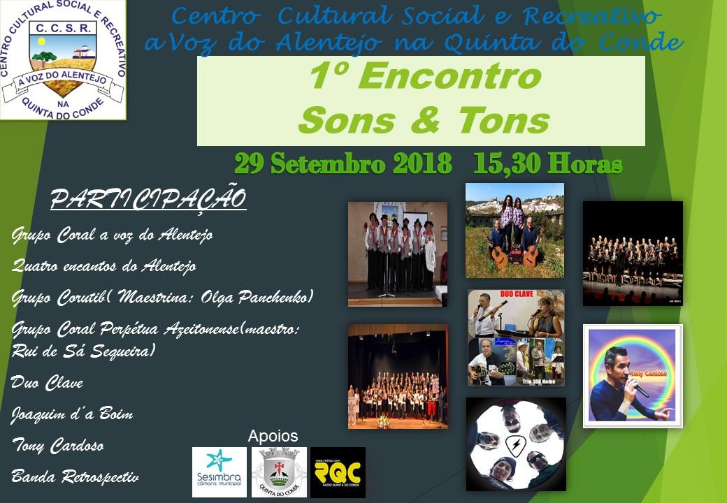 PRIMEIRO ENCONTRO DE SONS E TONS