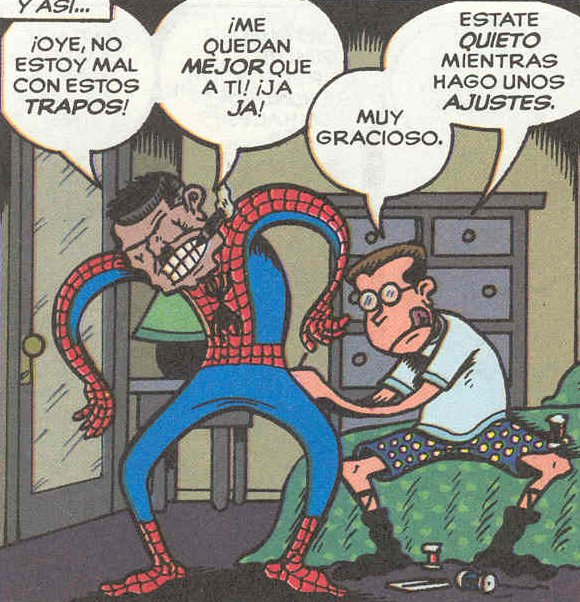 spiderman cede su traje