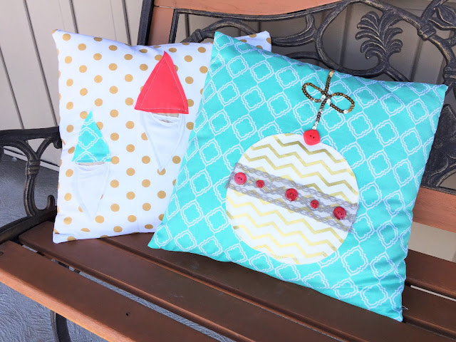 Christmas Ornament Envelope Pillow Tutorial