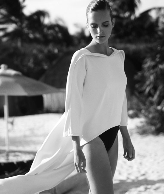 Mirte Mass in Harper's Bazaar Spain July-August 2014 (photography: David Roemer, styling: Berta Alvarez)