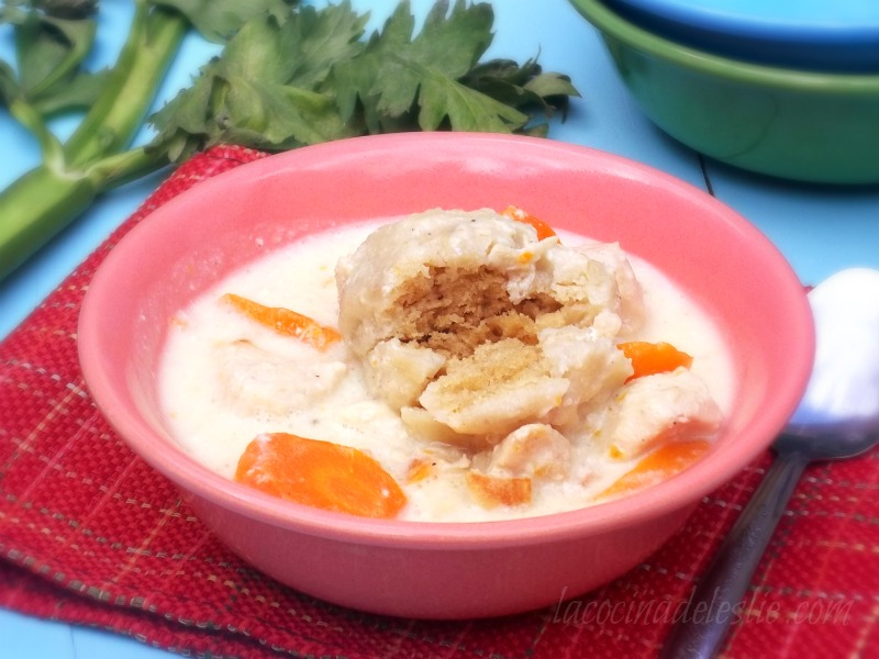 Chicken & Biscuit Dumplings (from scratch) - lacocinadeleslie.com