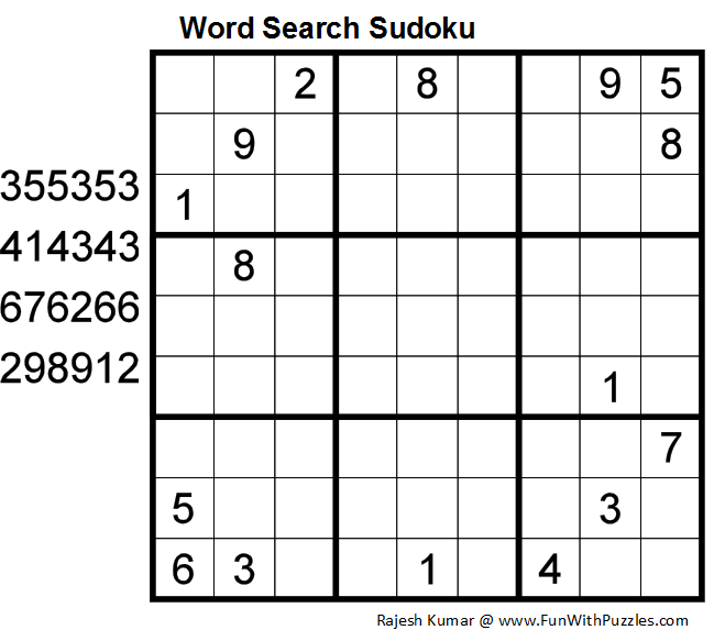 Word Search Sudoku (Daily Sudoku League #87)