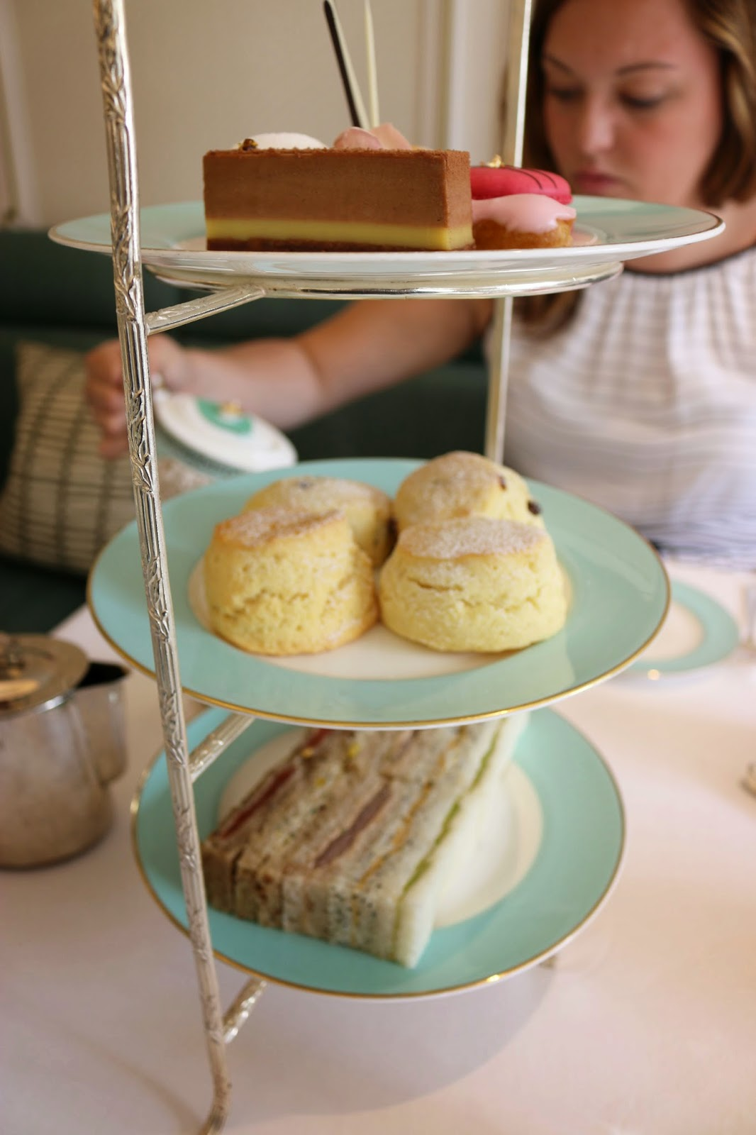 Fortnum & Mason Diamond Jubilee Tea Salon - Finger Sandwiches and Pastries
