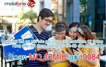 Các gói 3G Mobifone thời hạn 12 tháng