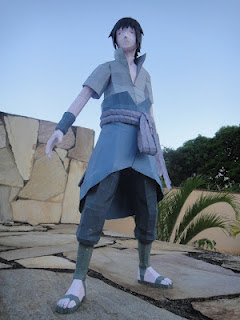 Naruto Shippuden - Sasuke Uchiha Papercraft