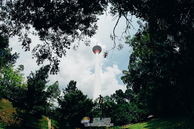Amazing view of KL Tower from the camping site in Bukit Nanas Forest Reserve