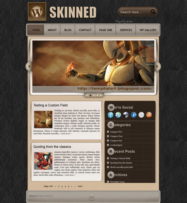 Skinned WordPress Theme
